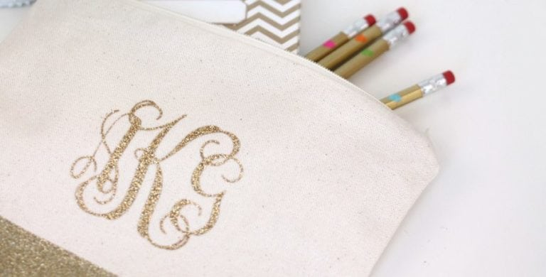 DIY Monogram Pencil Bag