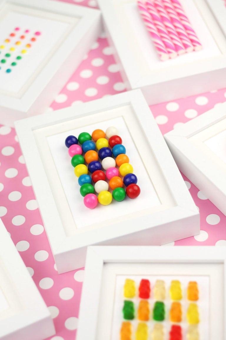 DIY Framed Candy