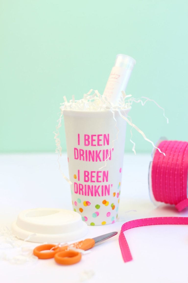 DIY Stenciled Coffee Mug