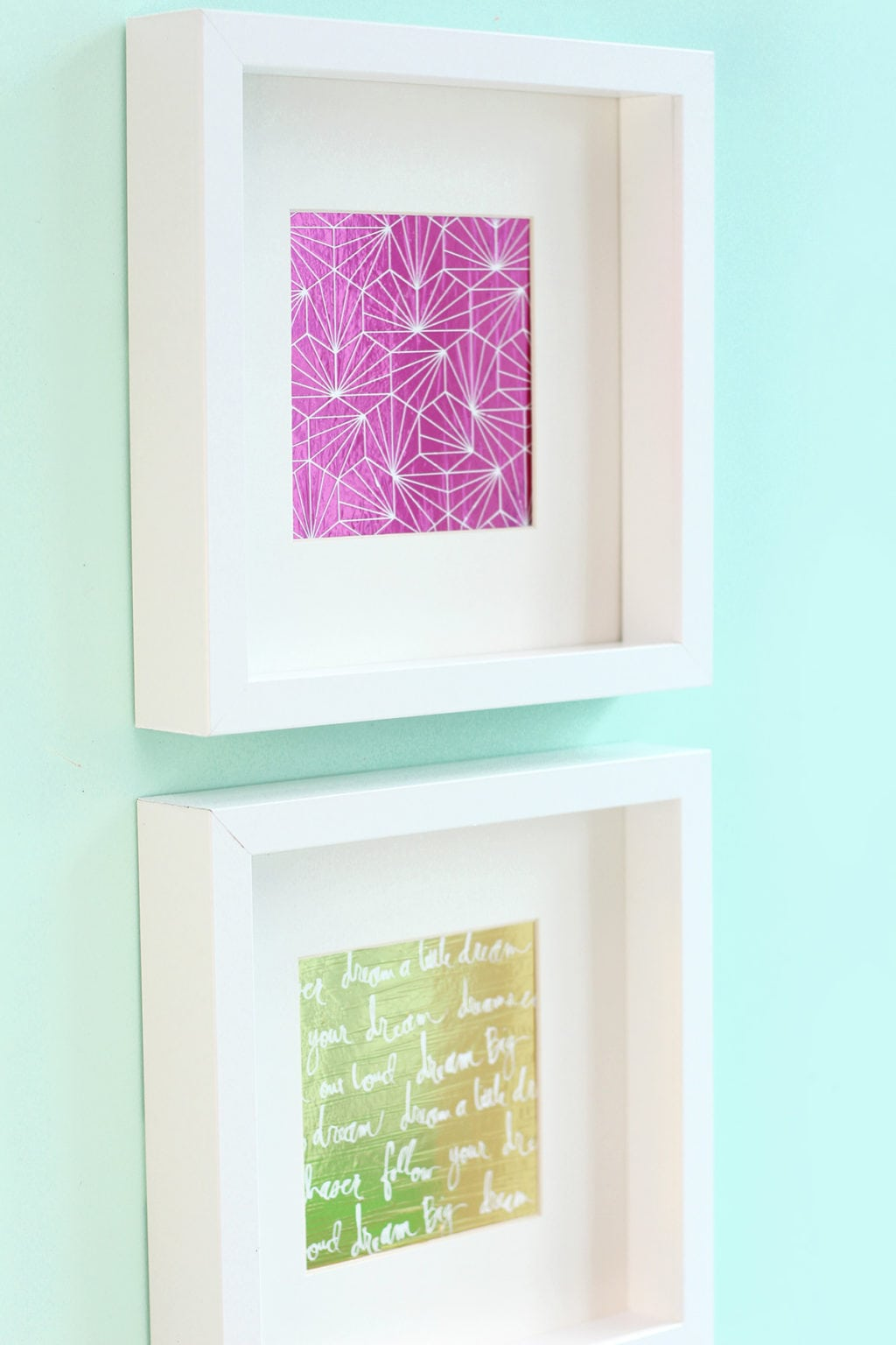 Easy Foiled Negative Wall Art with the Minc Foil Applicator | Damask Love