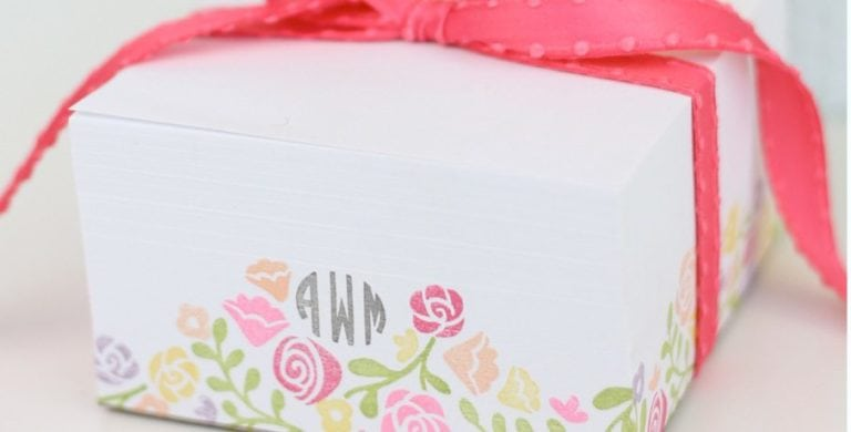 Stamped Monogram Notepaper Blocks
