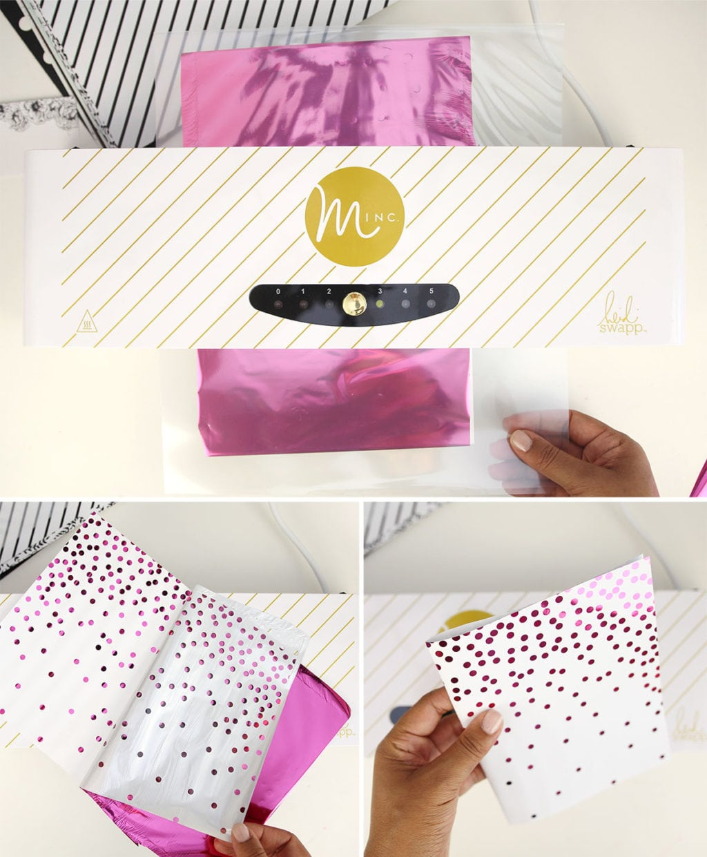 Minc Foiled Notebooks Step 2