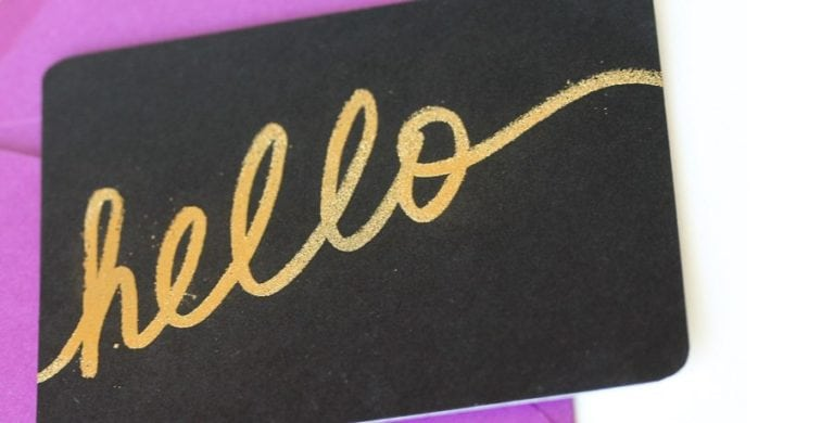 DIY Gold Embossed & Handwritten Notecards