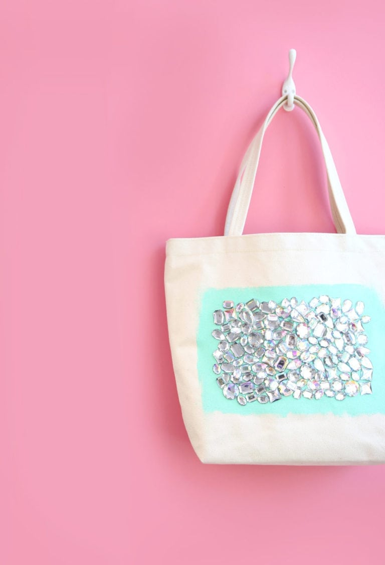 DIY Jeweled Tote