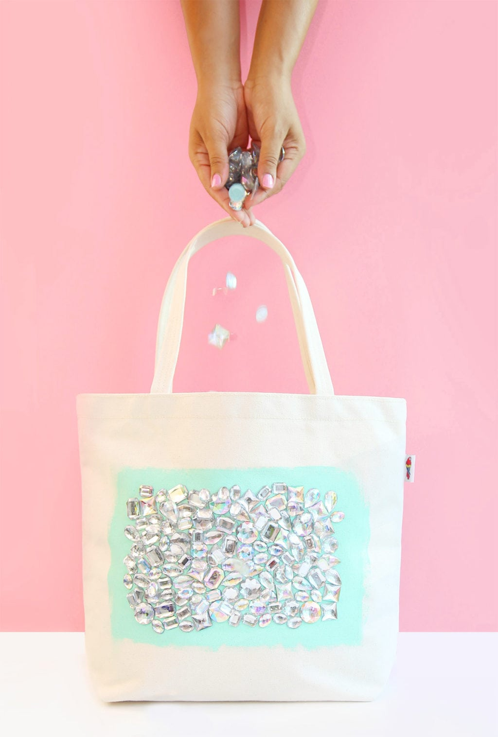 DIY Jeweled Tote | damask love