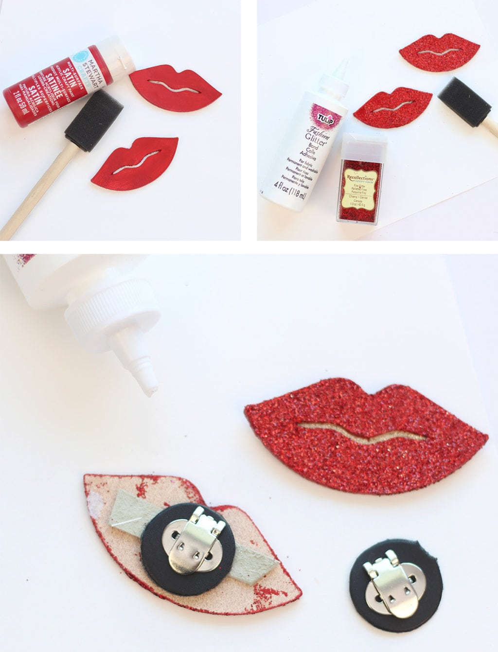 DIY Red Lip Shoe Clips | Damask Love Blog