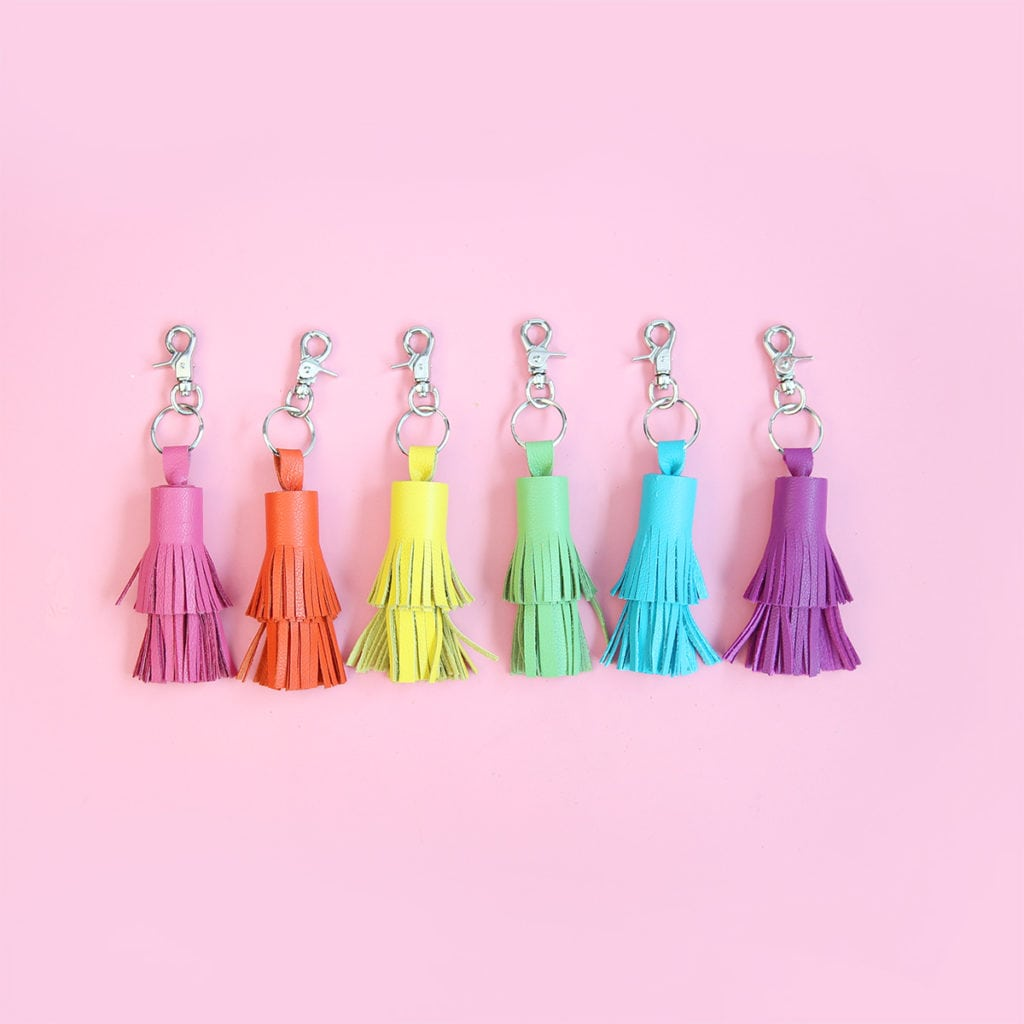 DIY Leather Tassel Keychains