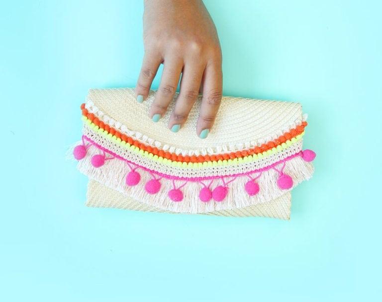 No-Sew DIY Placemat Clutch