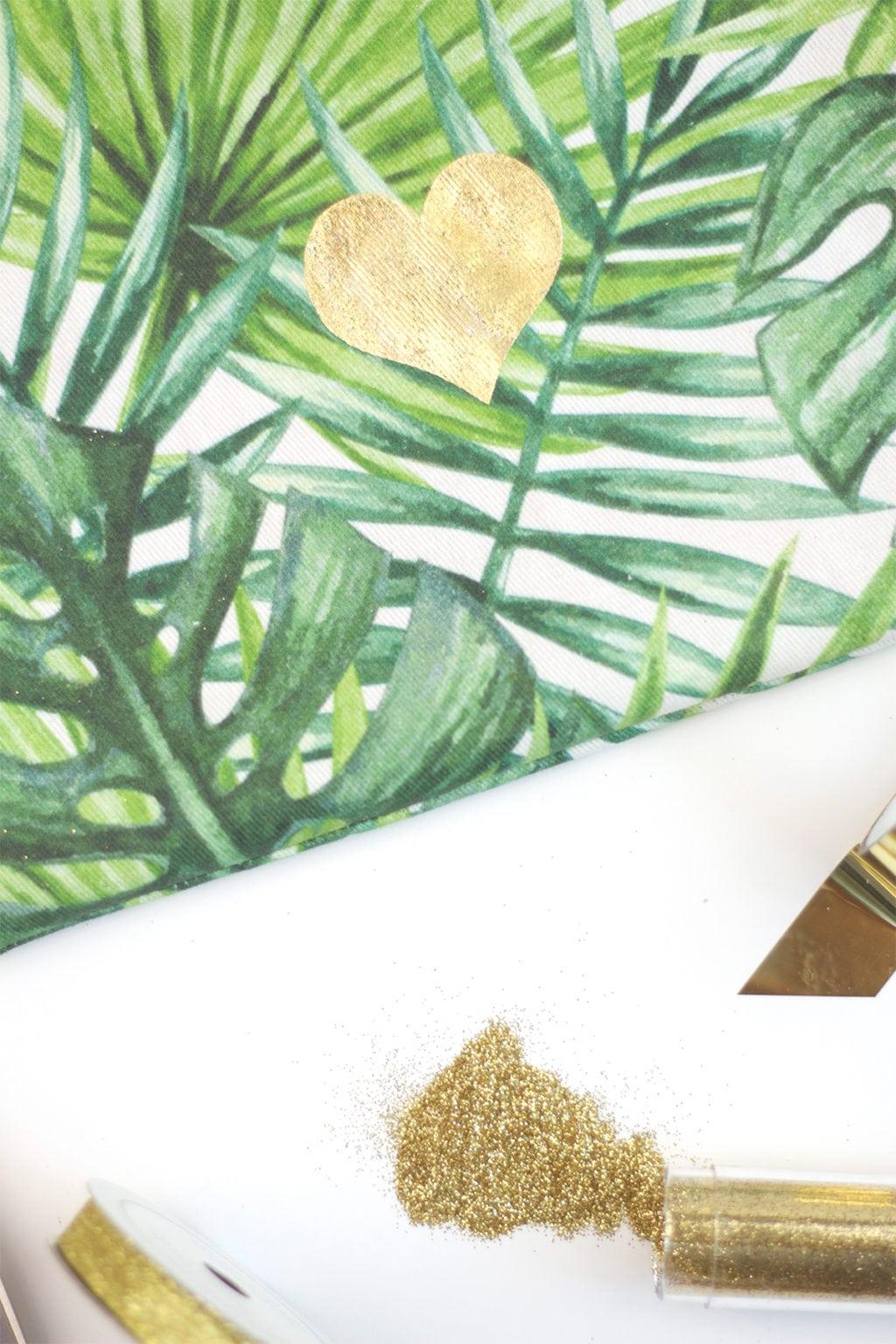 DIY Minc Foiled Fabric   damask love