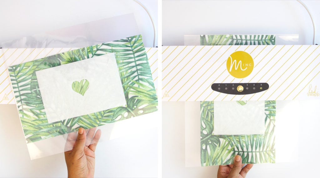 DIY Minc Foiled Fabric | damask love