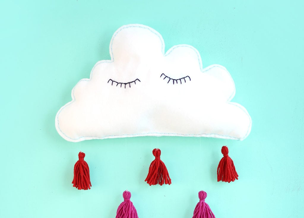 Felt Cloud Kid S Wall Decor Damask Love