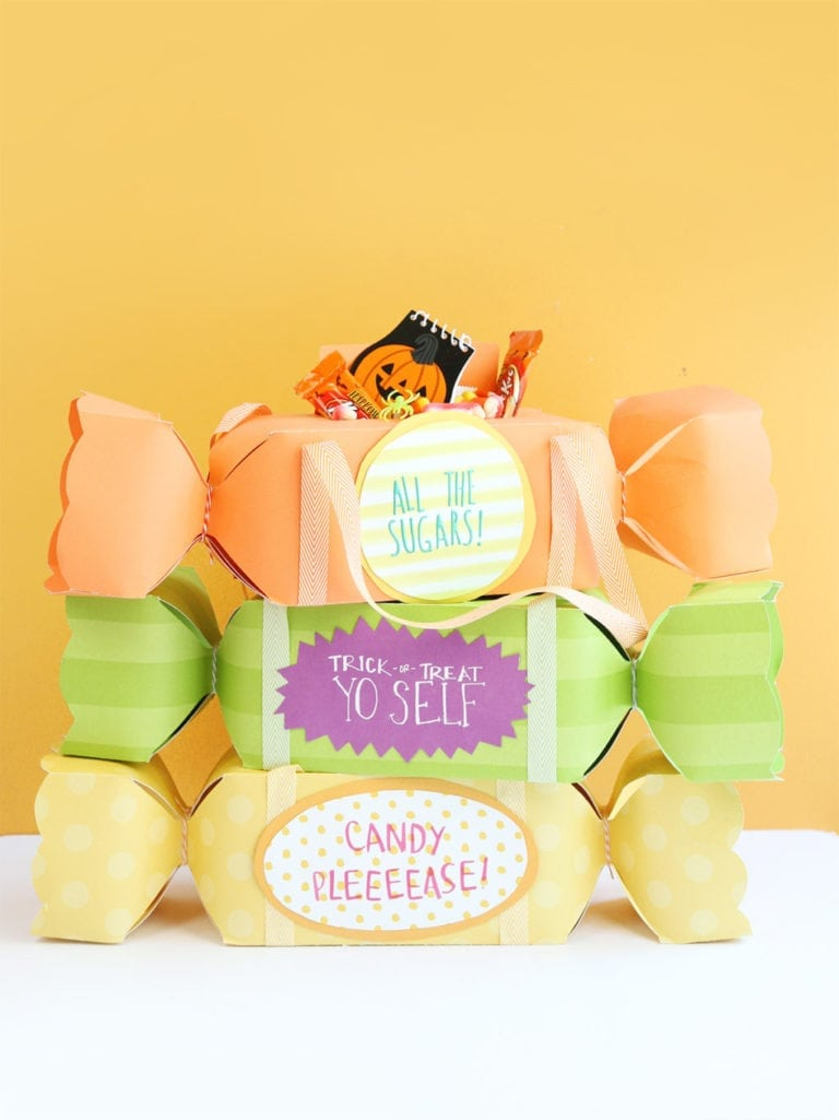 Candy Shaped Trick-or-Treat Bags