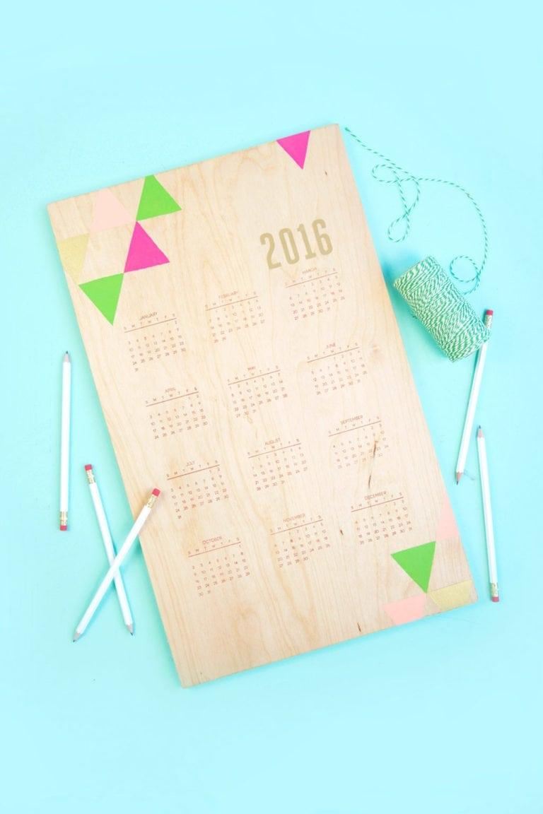 Handstamped Wood Calendar + New Stamp Sets!