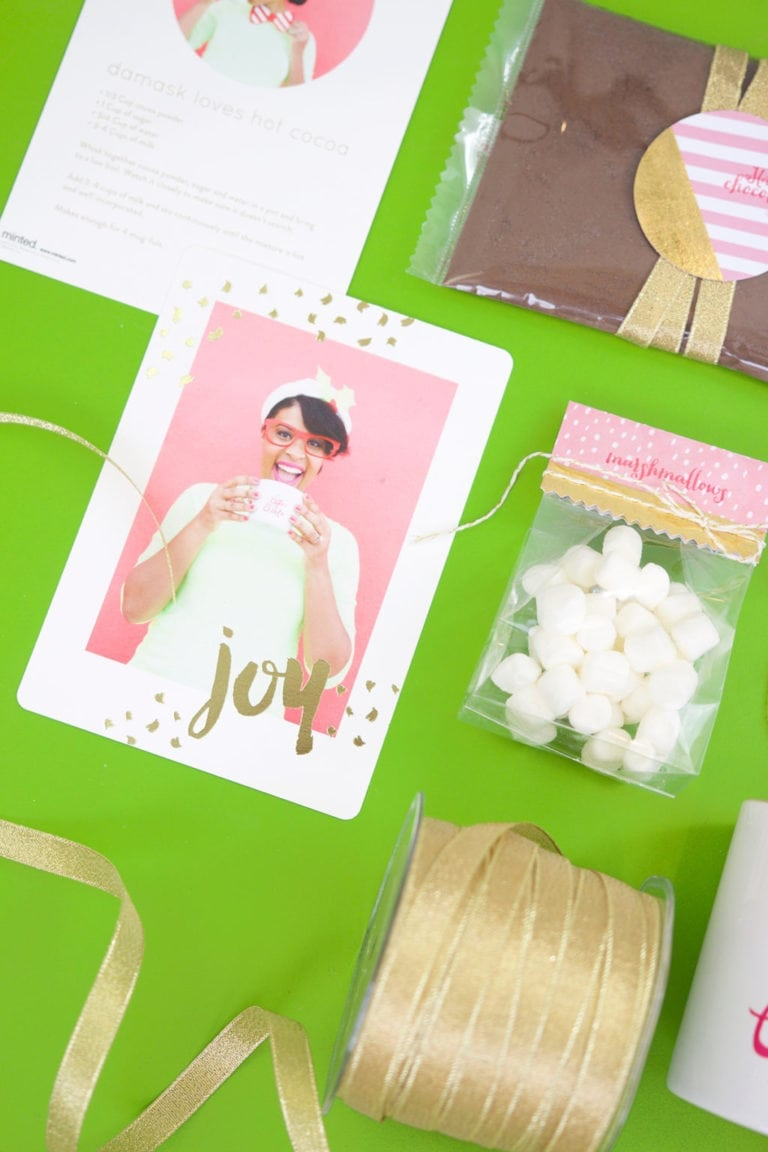 Gold Foiled Hot Cocoa Kit & Minted Giveaway