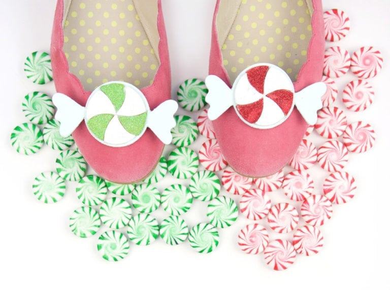 DIY Shoe Clips: Peppermint Candy