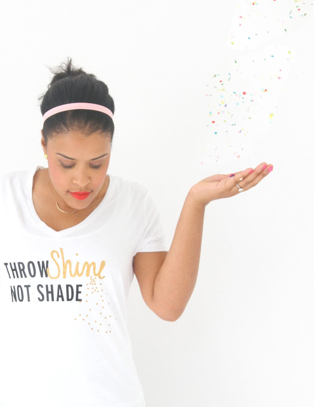 Throw Shine Not Shade DIY Tee | damask love