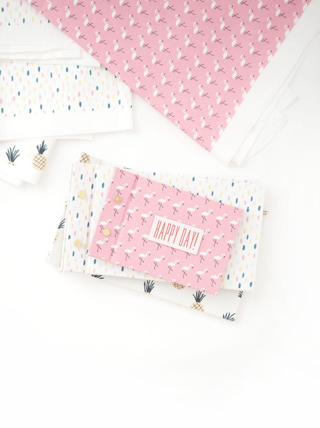 How to make scrapbook journal - Easy Diy Fabric Scrapbook Journal