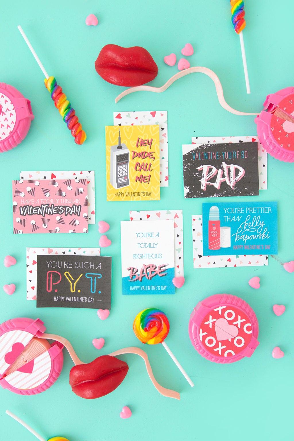 Free Printable 80's Inspired Valentines