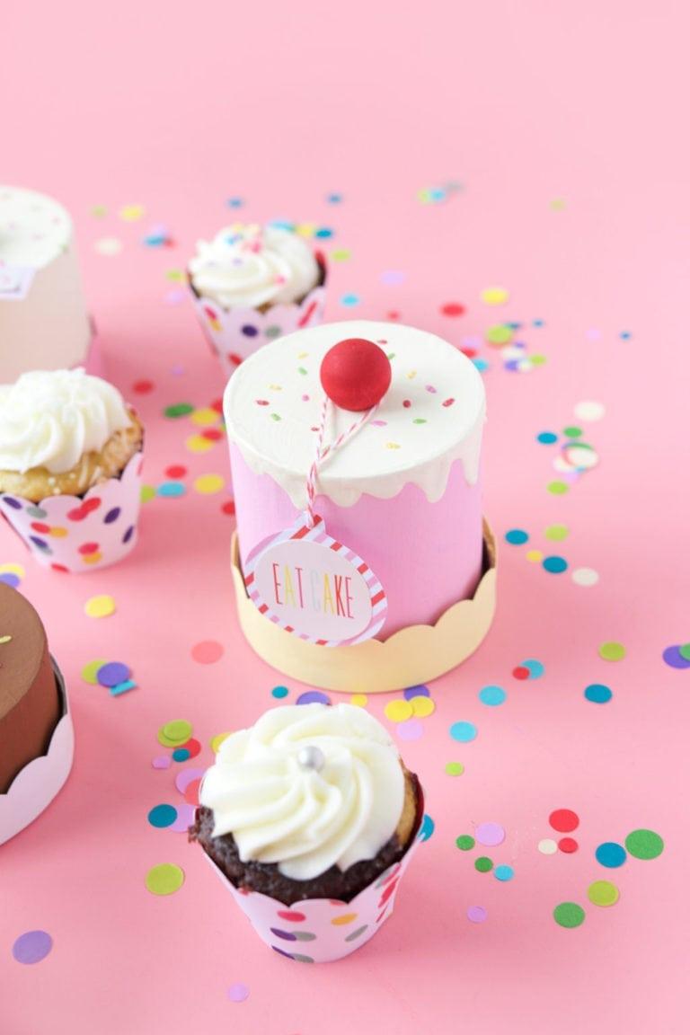 Easy DIY Paper Mache Cake Box