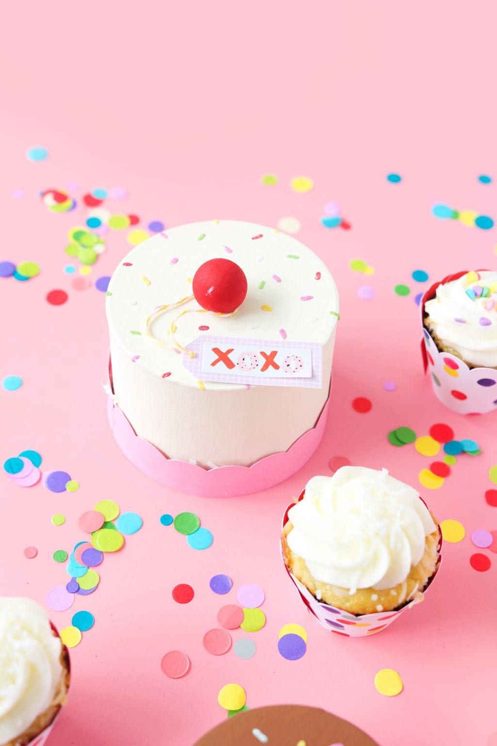 DIY Paper Mache Cake Boxes