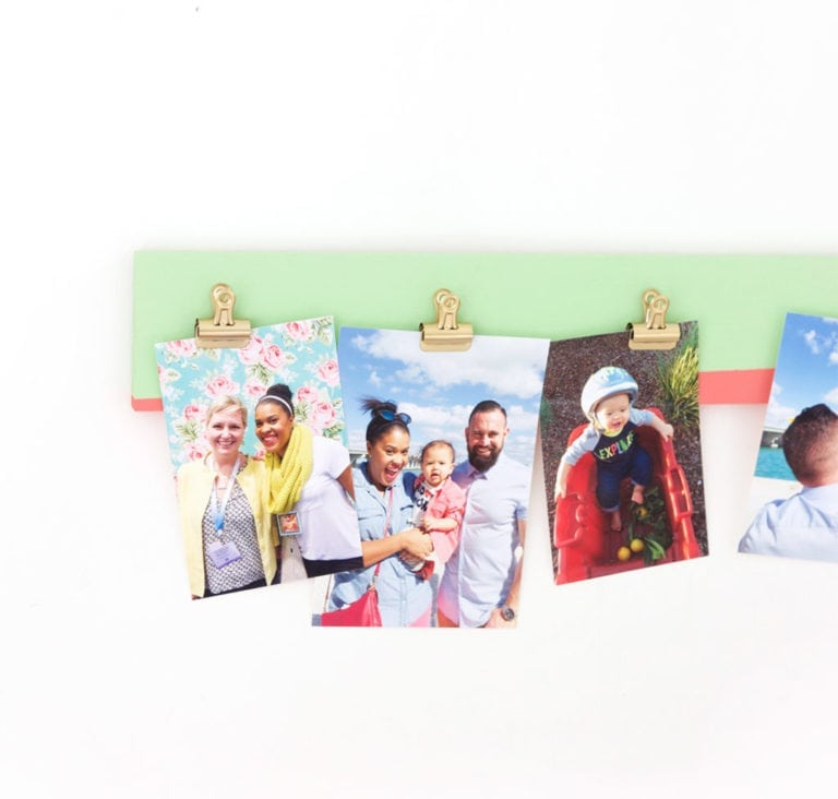 DIY Photo Gallery Clipboard