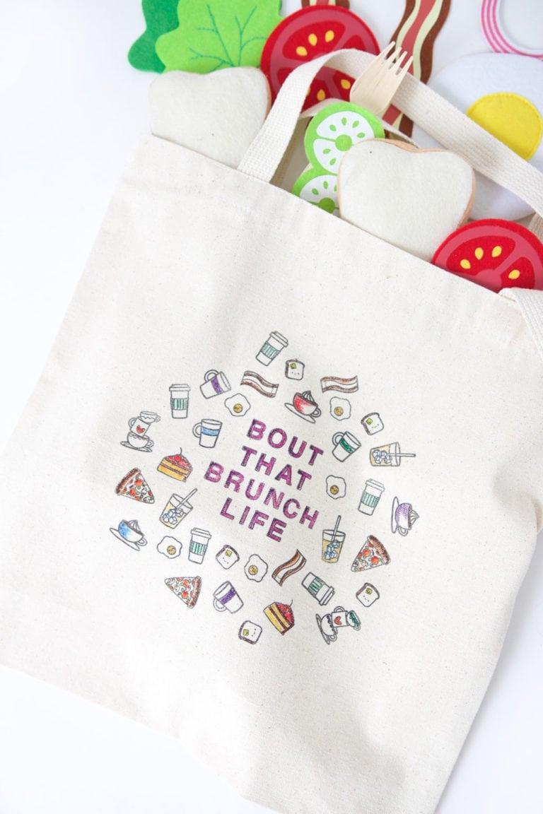 DIY Stamped Canvas Tote Bag