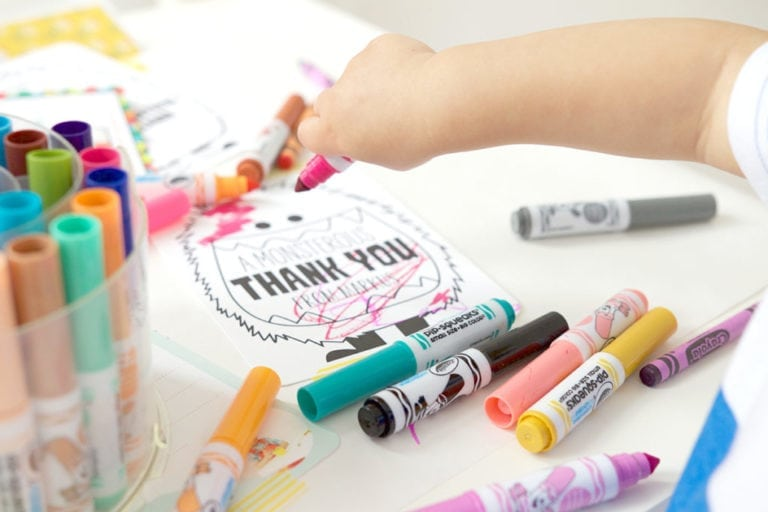 Kid-Friendly Thank You Cards