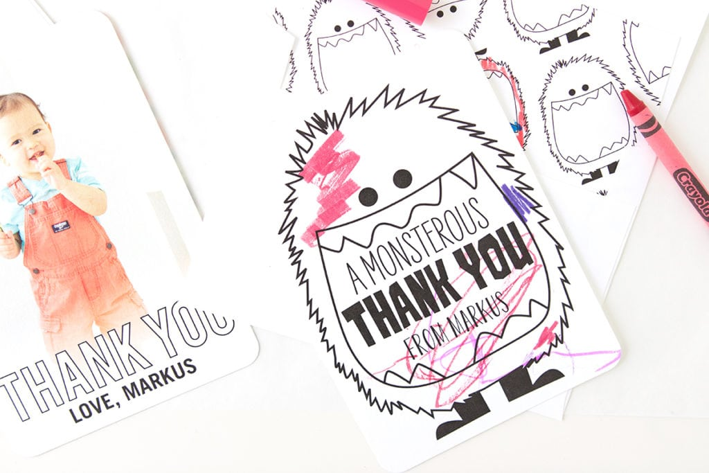 Encourage gratitude with even the littlest people in your home with fun, playful kid-friendly thank you cards from Tiny Prints