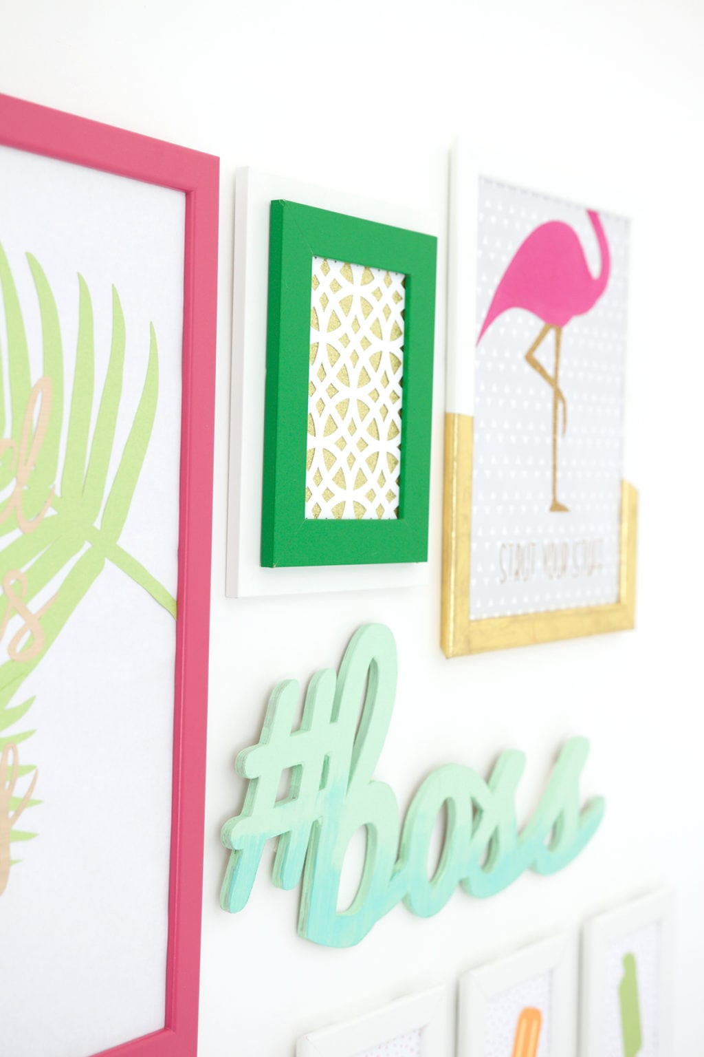 Cricut Wall Decor And More Projects : Cricut explore gallery wall damask love
