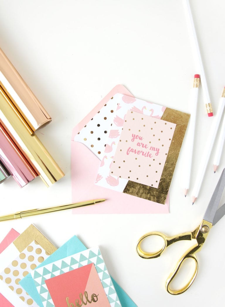 Easy DIY Foiled Stationery