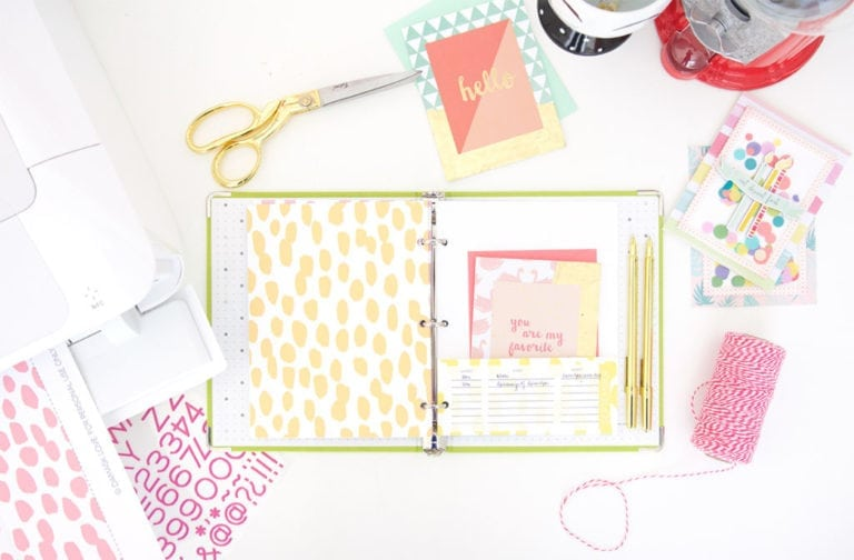 DIY Stationery Organizer Binder