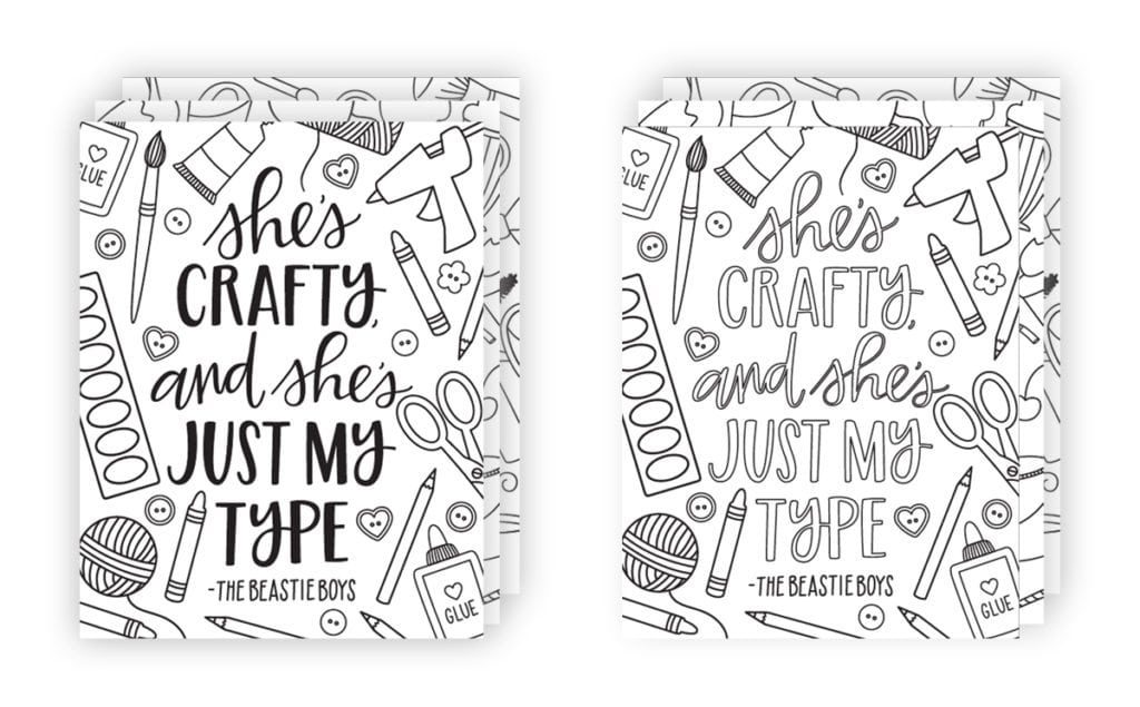 Coloring Song Lyric Posters