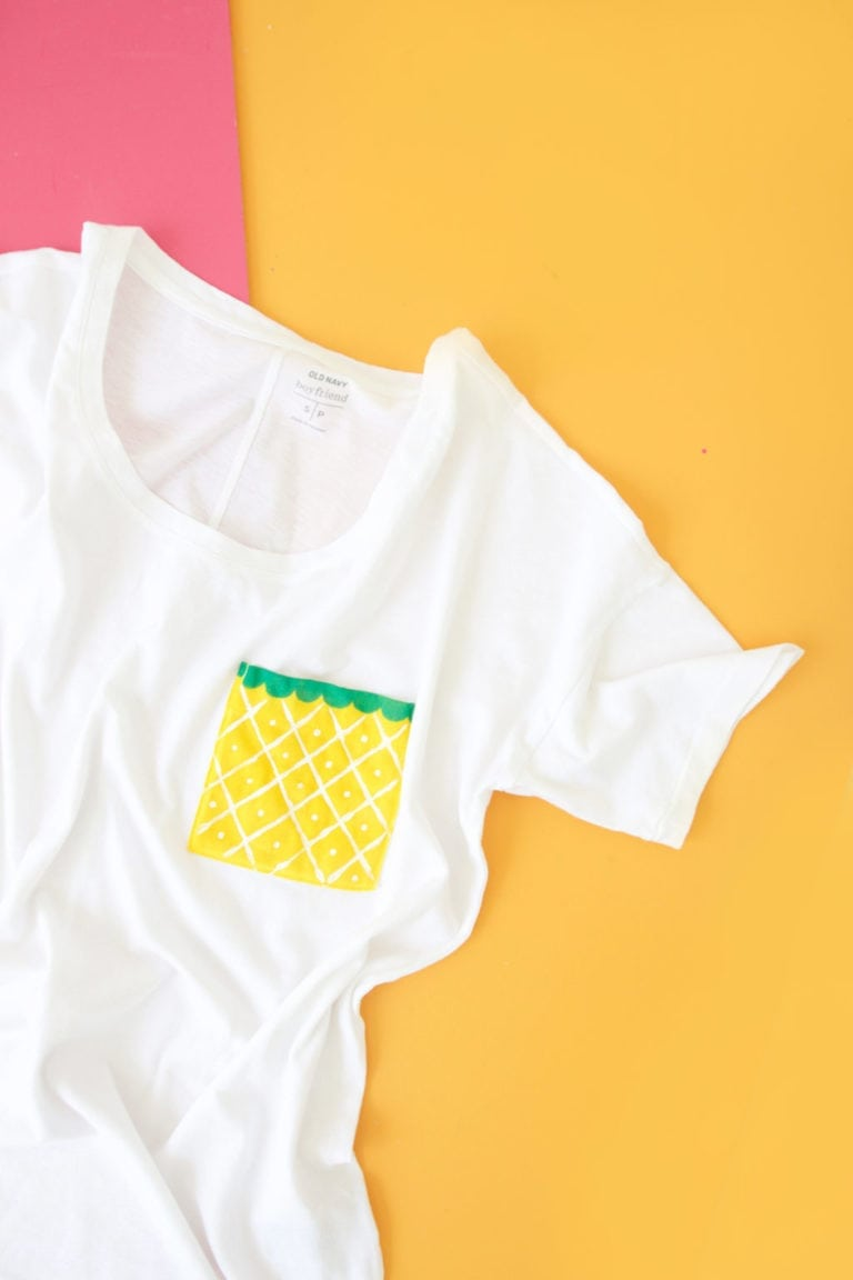 DIY Fruit Pocket Tees