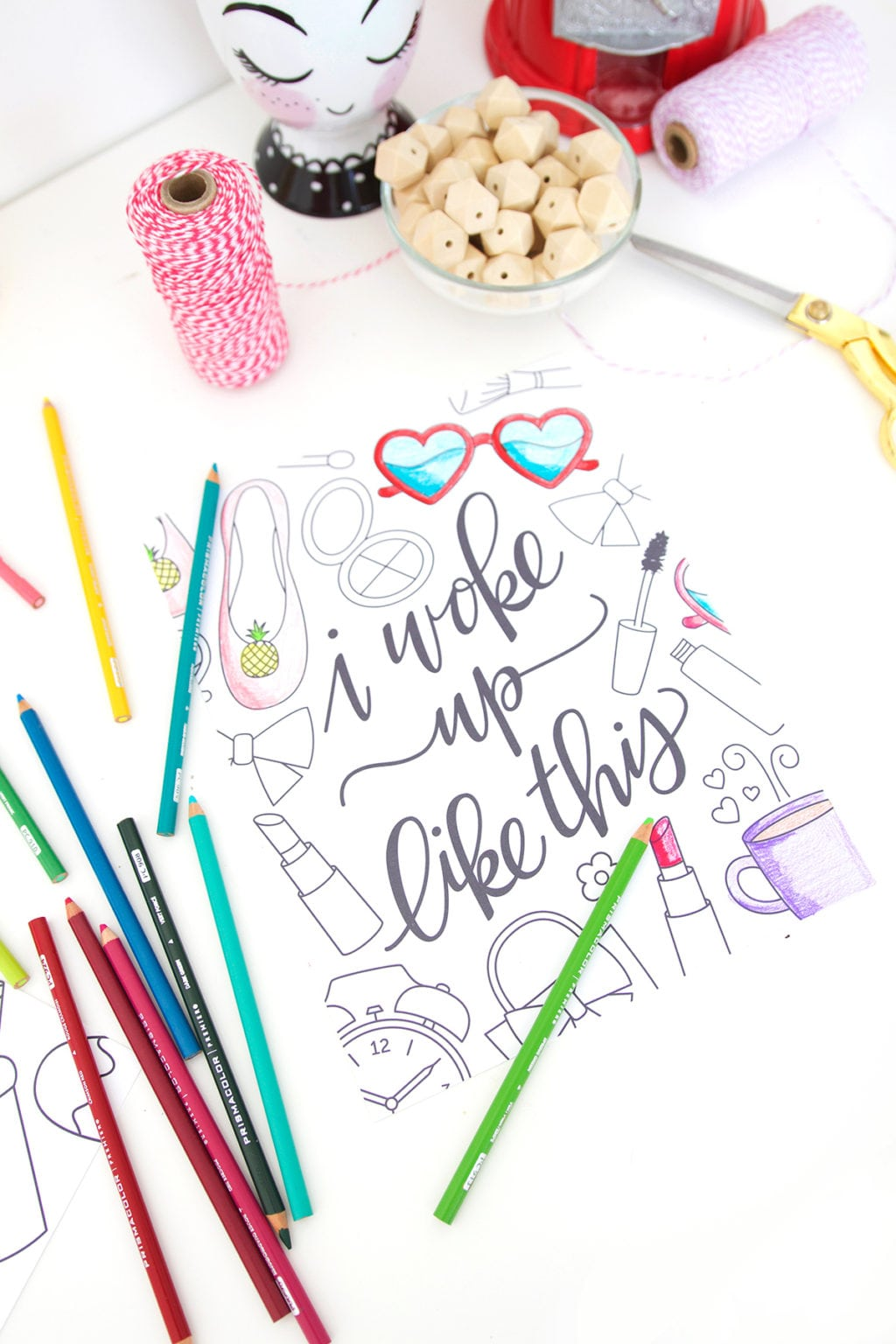 Give a little love to your favorite song lyrics and do some crafting at the same time with these Coloring Song Lyric Posters perfect for the office, kitchen or craft room.