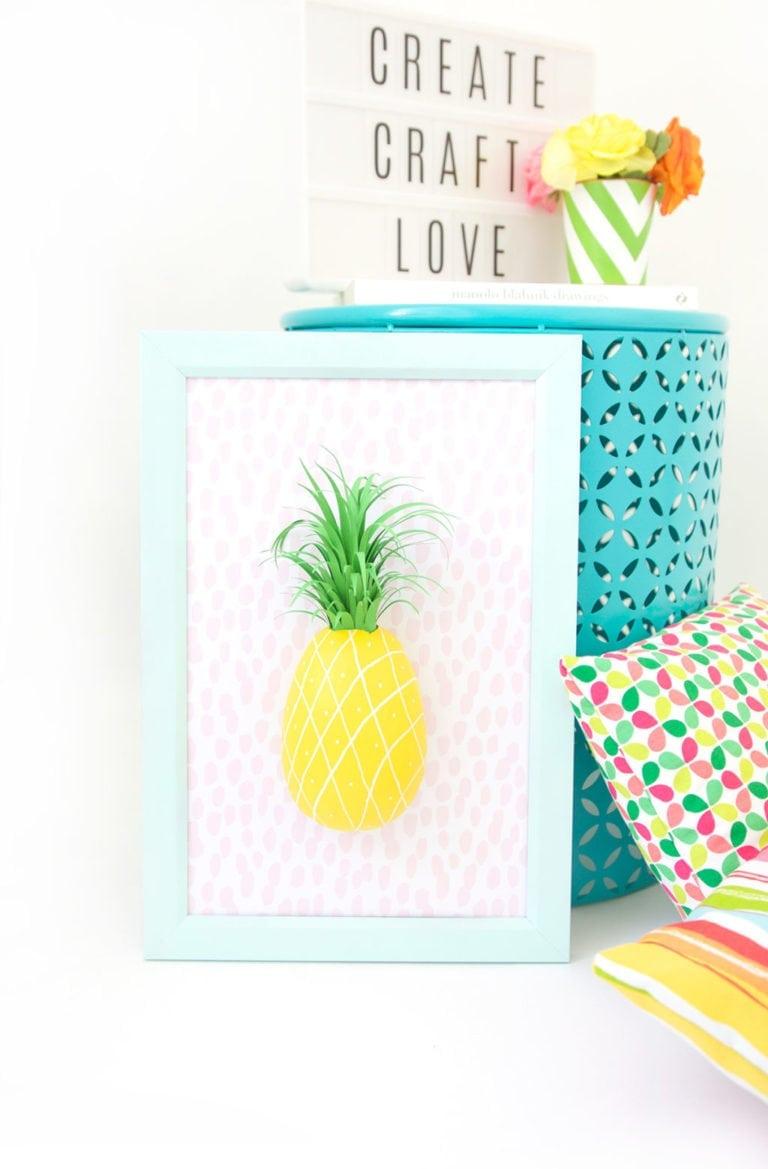 DIY Paper Mache Pineapple Wall Art