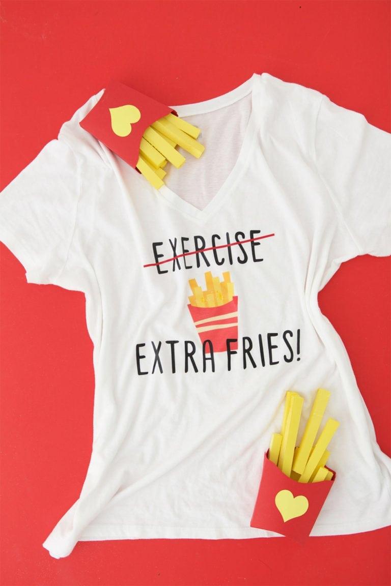 DIY French Fries Tee Shirt