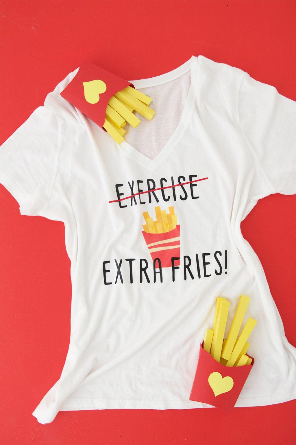 Diy French Fries Tee Shirt Damask Love