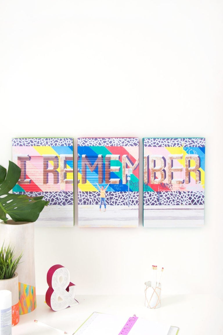 Easy DIY Tryptic Wall Art