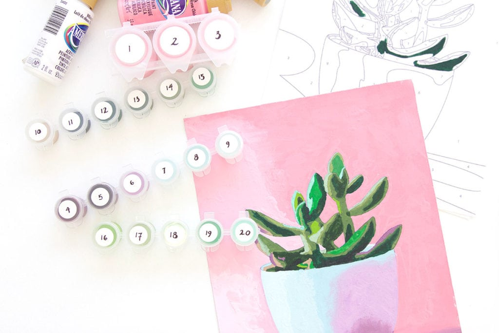 A throwback craft that you are going to love. This printable paint by number is easy and gives you foolproof results with a color key showing each color you need to complete the design.