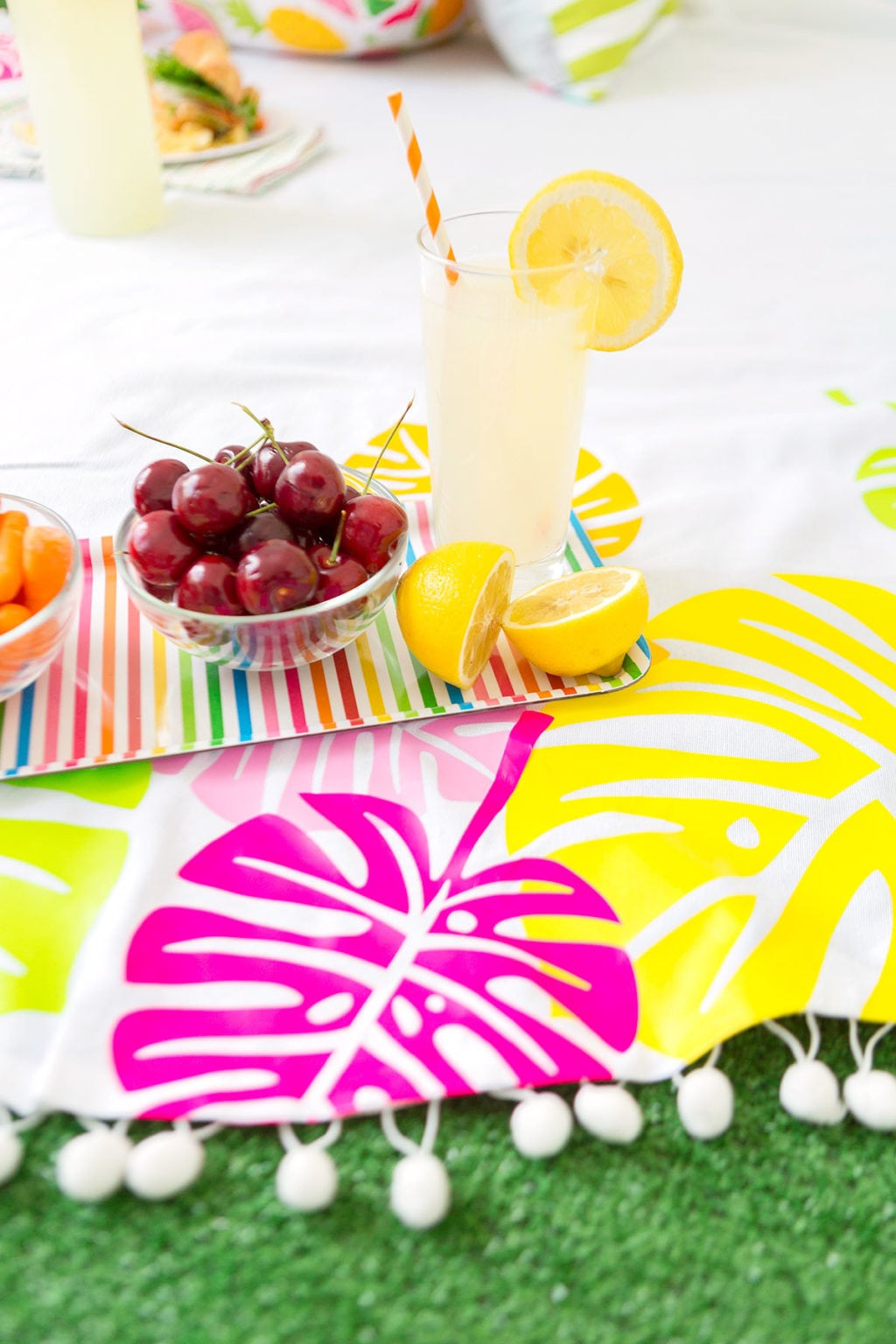 Use your Cricut Explore to create this Cricut Iron-On Picnic Blanket featuring bold colors and on-trend