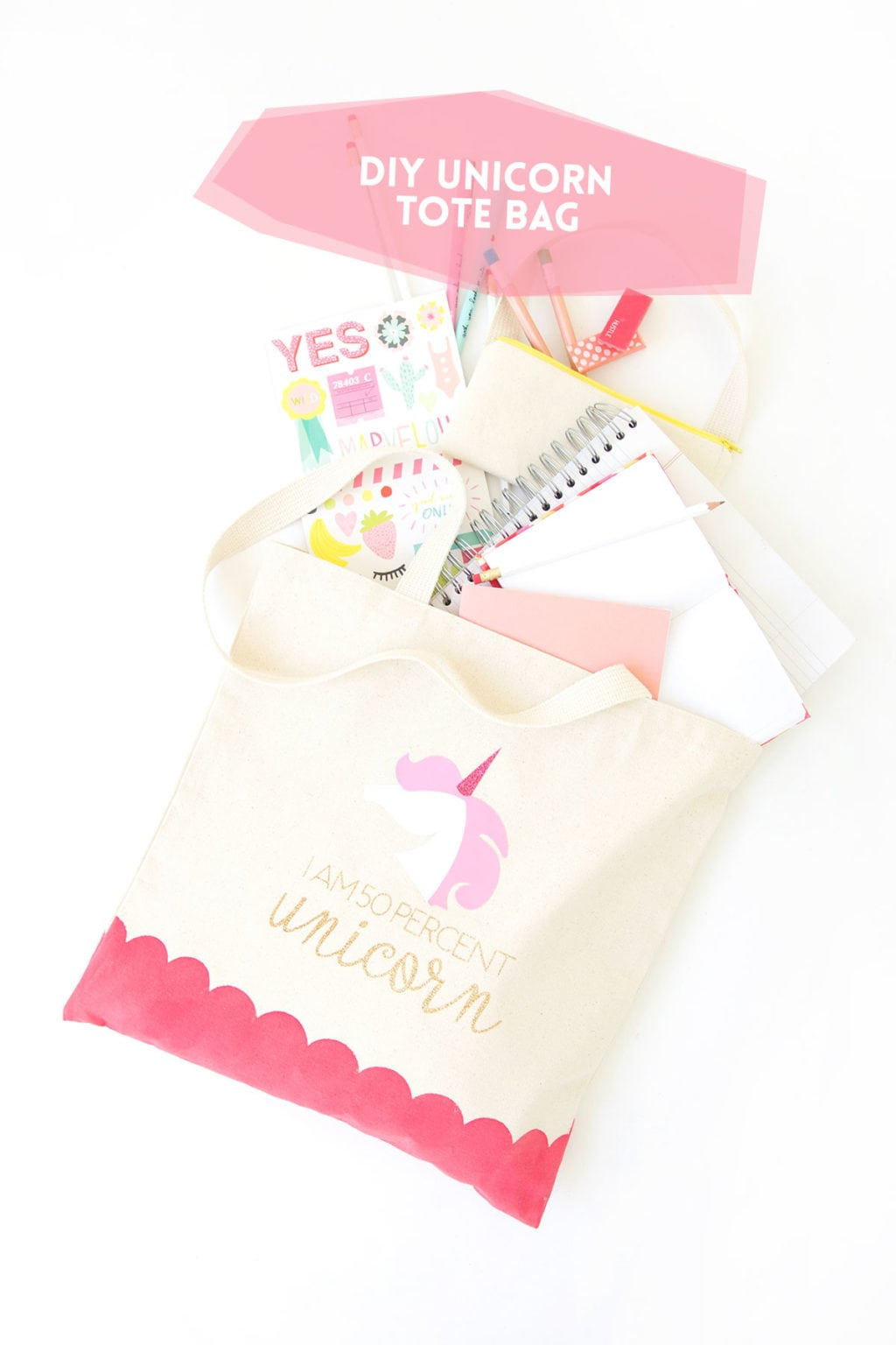 DIY Unicorn Tote Bag | damask love