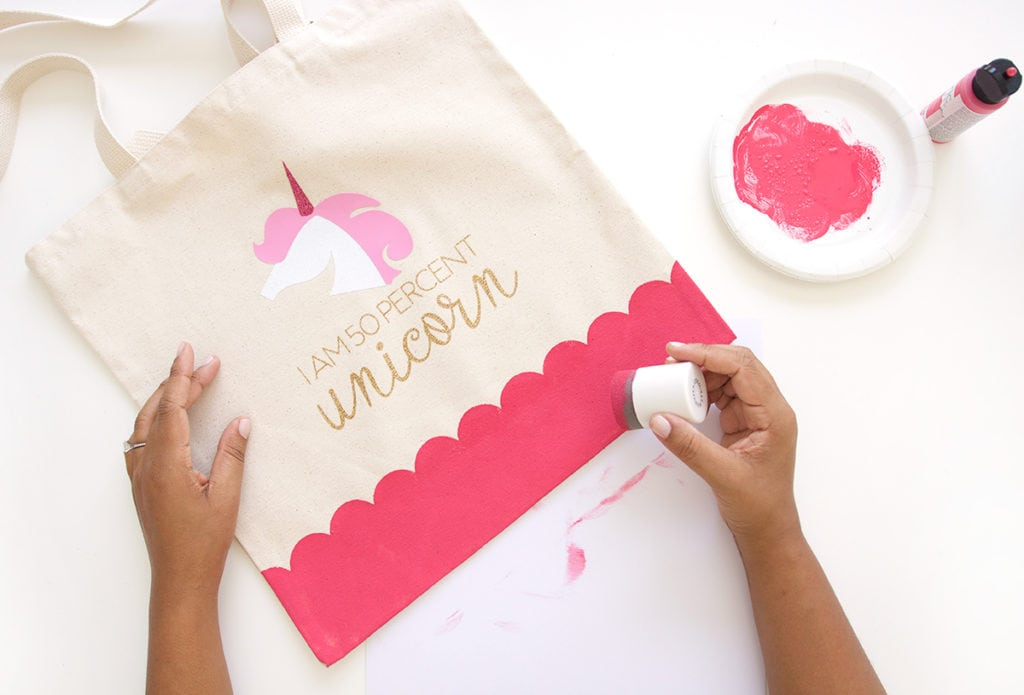 Celebrate your inner unicorn with this easy to make DIY Unicorn Tote Bag perfect for back to school or everyday use.