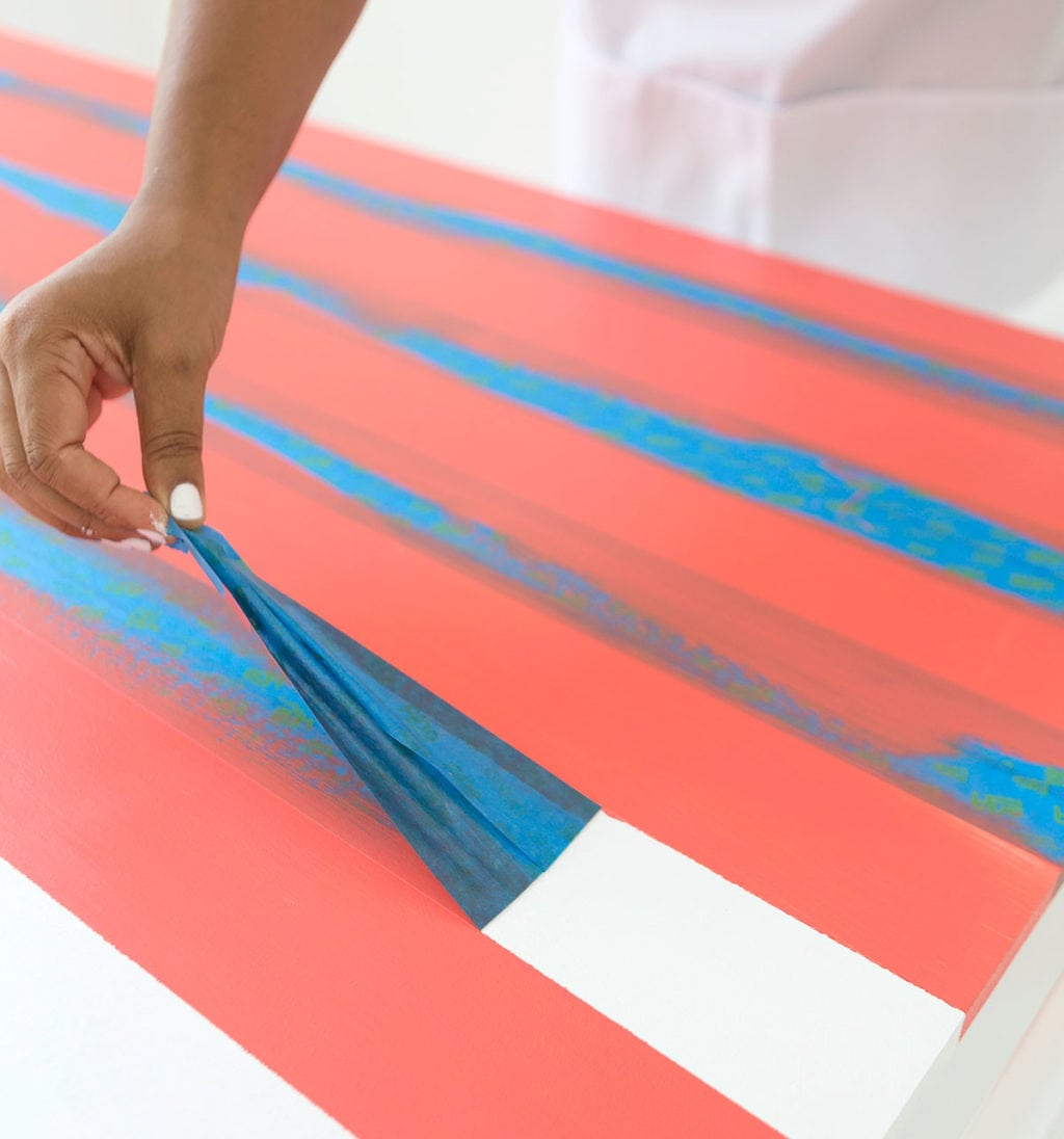 Learn how to paint gingham onto your table top and create the perfect place for hosting indoor picnics year round!