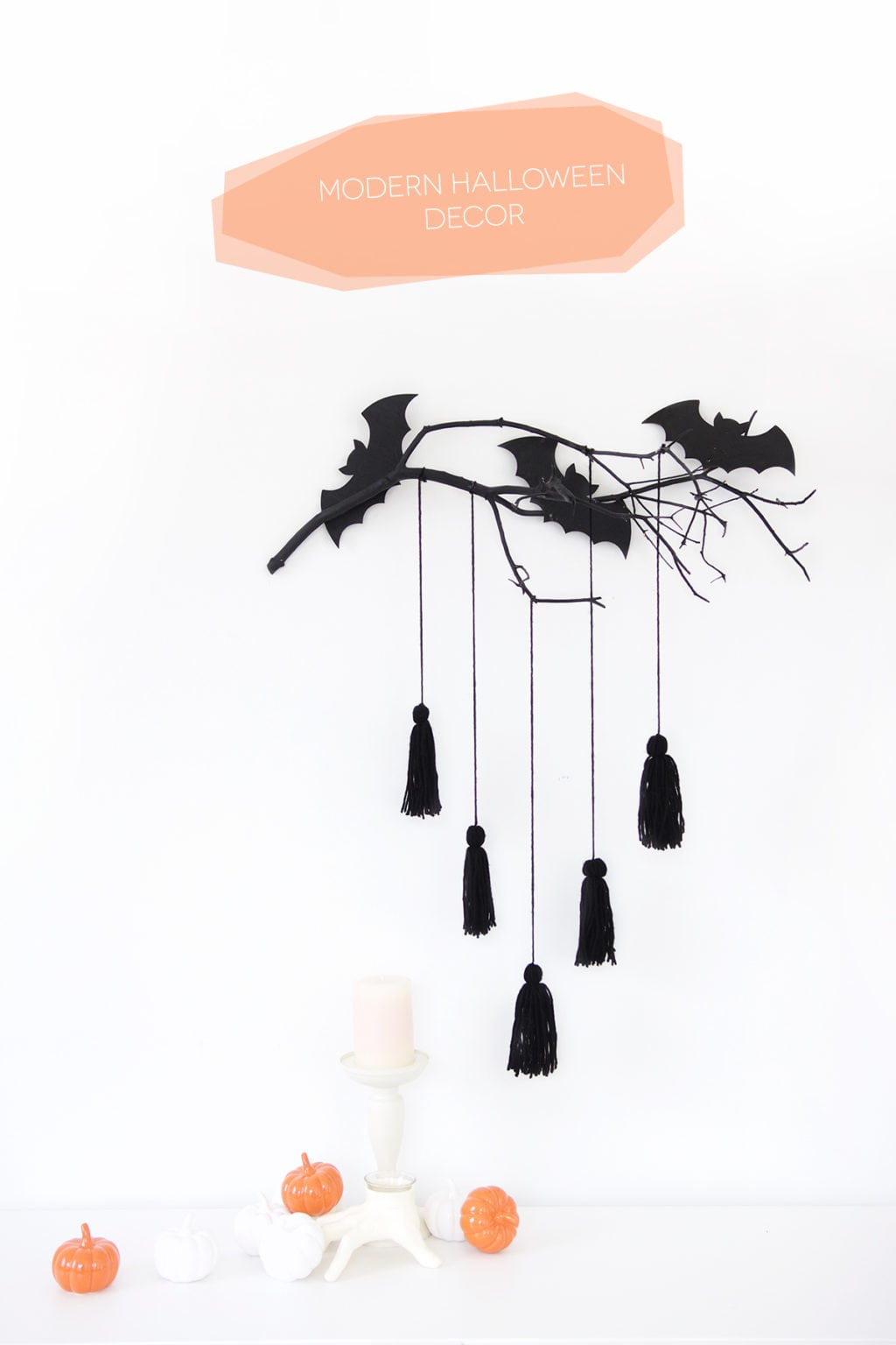 Give Your Spooky Decor A Mod Makeover With This Easy To Make Modern Halloween  Wall Decor
