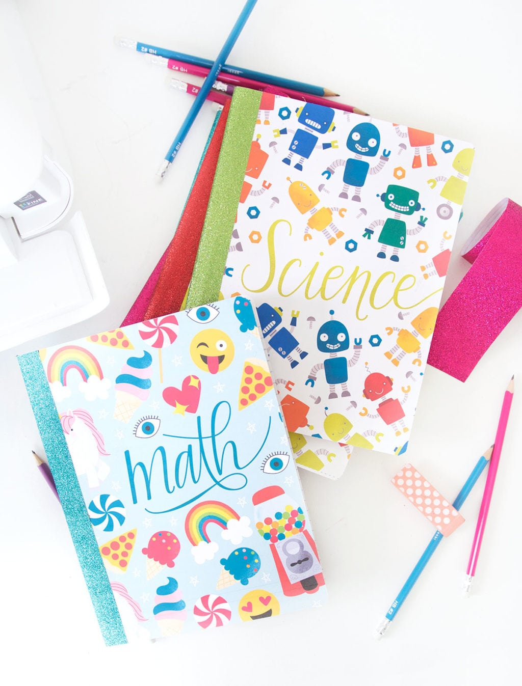 Diy glitter notebook cover - These Printable Composition Notebook Covers Are Perfect For School Age Kids And Grown Ups Too