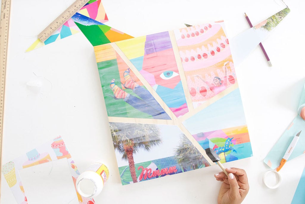 Turn your printed photos into a statement piece with this simple DIY Abstract Photo art made with wood and letter sized photos