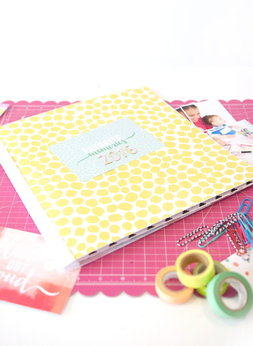 It's easy to create a DIY scrapbook with basic supplies and photos edited with the new Adobe Photoshop 15