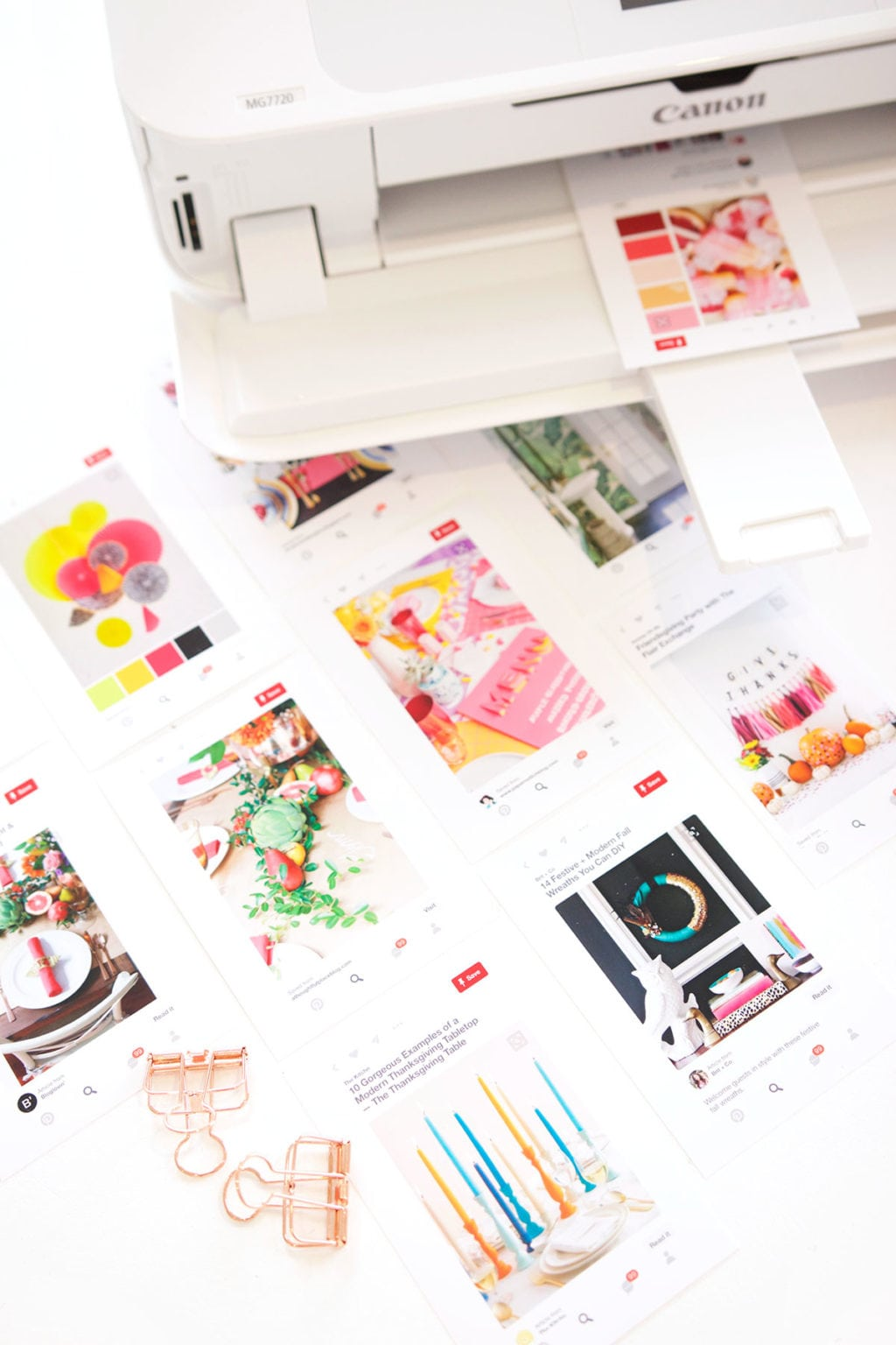 Inspire your creativity this fall season and print your Pinterest as a visual reminder of the colors and looks you love