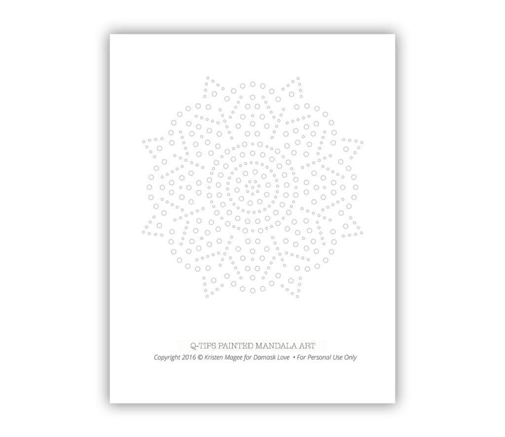 Create this DIY Q-TIPS Mandala Art with supplies