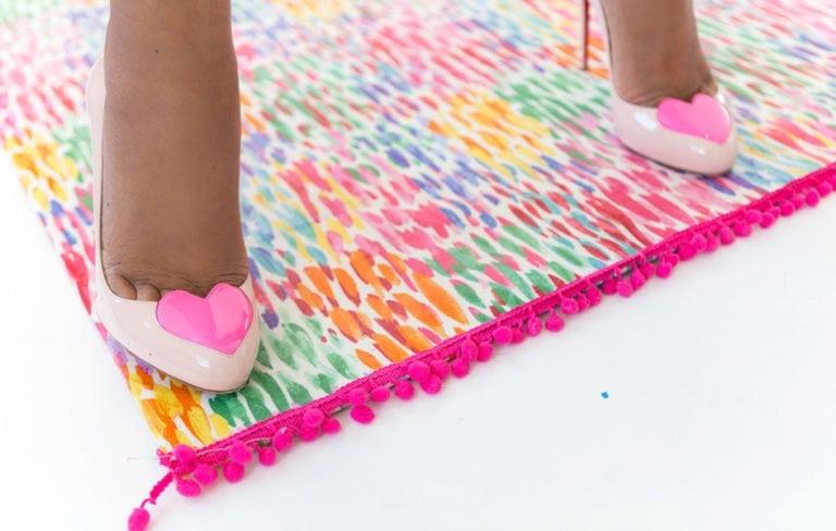 DIY Mod Podge Fabric Rug